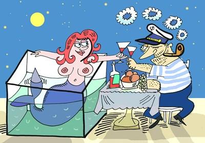Не и? върви на Марчето. Мъжът и? моряк, любовникът - тираджия, а комшията - стар