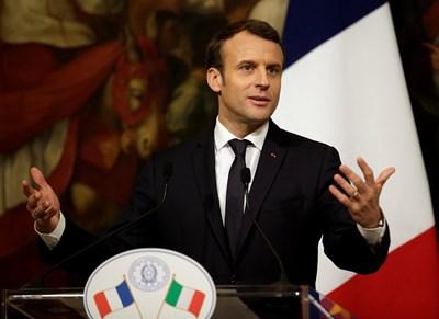Президентът на Франция Еманюел Макрон  СНИМКА: Ройтерс