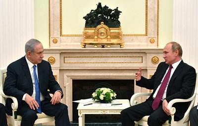 Нетаняху и Путин в Москва СНИМКА: Ройтерс