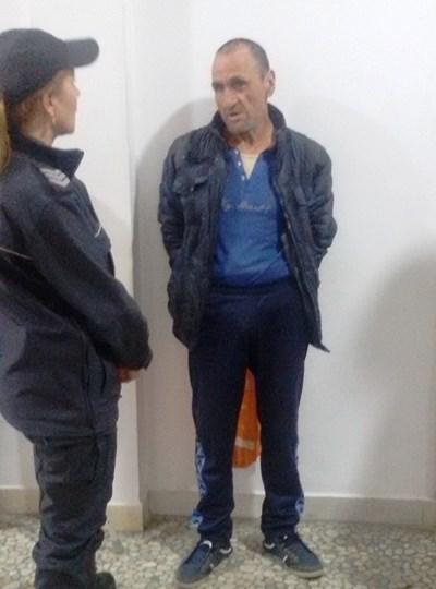 Алекси Стоянов през 2016 г. в съда в Бургас, след като намушка с нож полицай. Снимка:Елена Фотева