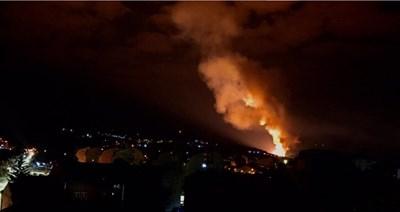 Пожарът в Чачак СНИМКА: Би Би Си