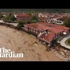 Трета жертва на урагана Янос в Гърция (Видео)
