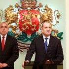 Бойко Борисов (вляво) и Румен Радев
