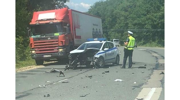 Патрулката причинила катастрофата край Варна, ранено е дете