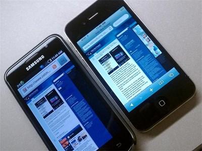 Според директорите на Apple, корейската компания е копирала дизайна на устройствата iPhone и iPad. Снимка интернет