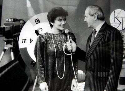 """Румяна Тонева и Петър Вучков в едно от първите издания на играта """"Няма време"""""""