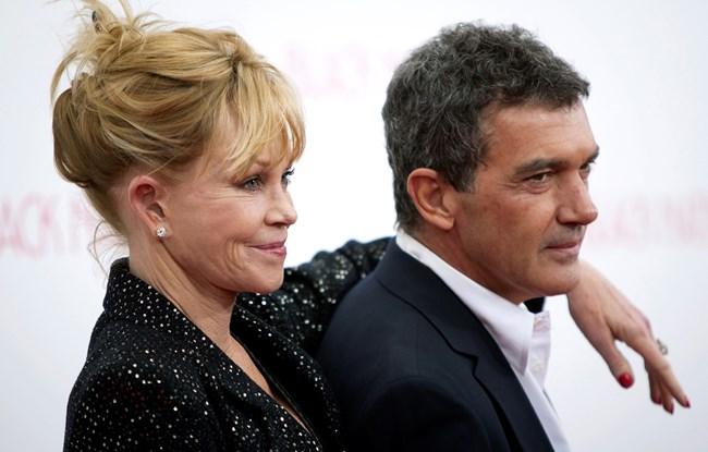 Бандерас с бившата си съпруга Мелани Грифит.