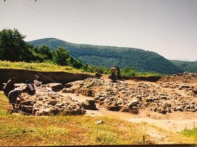 Разкопки в тракийския селищен комплекс в с. Васил Левски. Снимка: Архив