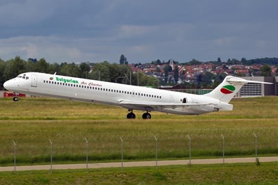 СНИМКА Инстаграм Самолет на Bulgarian Air Charter