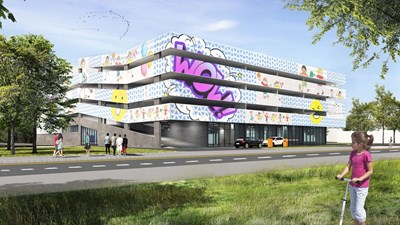 """Един от вариантите за визията на новия паркинг в столичния район """"Надежда""""."""