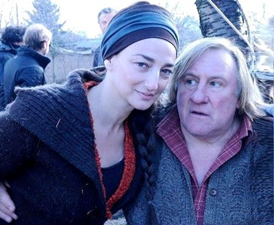 Деси Тенекаджиева и Жерар Депардийо по време на снимките СНИМКА: Мария Райчeва