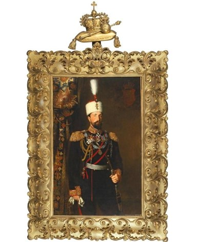 Портретът на Батенберг е дело на художника Карл Дилиц СНИМКИ: dorotheum.com
