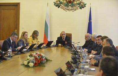 Бойко Борисов по време на извънредното заседание на министерски съвет СНИМКА: Йордан Симеонов