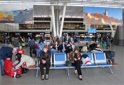 Изглед от Терминал 2 Снимка: Летище София