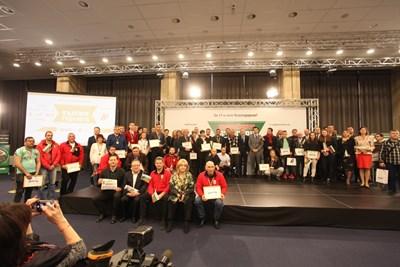 Достойните българи на традиционната обща снимка след края на тазгодишната церемония.