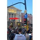 Това е бесилото, което един от протестиращите окачи на светофара между президентството и МС.  СНИМКА: ЛИЧЕН ПРОФИЛ ВЪВ ФЕЙСБУК НА АСИМ АДЕМОВ