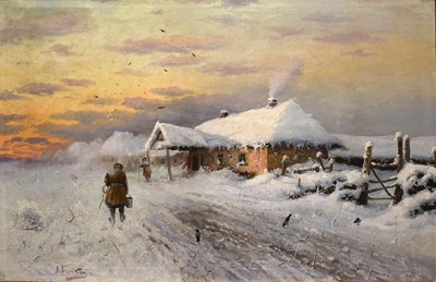Зимен пейзаж от Петров Левченко