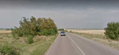 Пътят Стара Загора – Димитровград, в участъка между с. Средец и с. Тракия  Снимка: Google maps