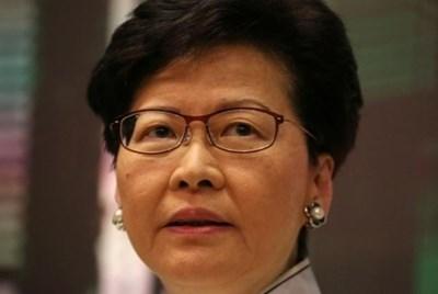 Лидерката на Хонконг Кари Лам СНИМКА: Ройтерс