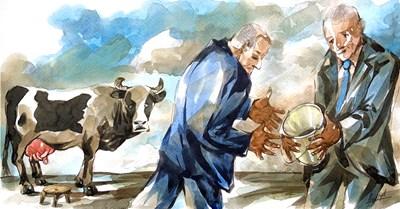 Връчване на проучвателен мандат - ето как го нарисува Анри Кулев