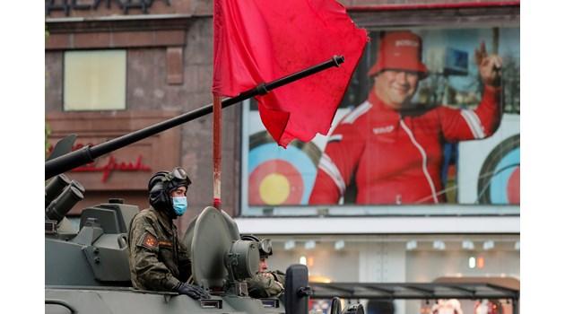 Репетиция за парада за Деня на победата в Москва, Русия.