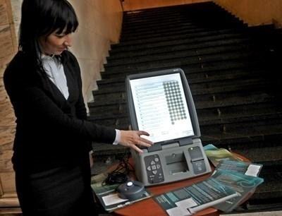 Демонстрация на машина за гласуване Снимка: Архив