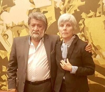Вежди Рашидов с посланика на Бразилия в София Н. Пр. Ана Мария Сампайо Фернандес. Снимка: Архив