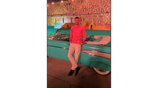Григор Димитров и Дейвид Бекъм гледат заедно модно шоу в Маями (Снимки)