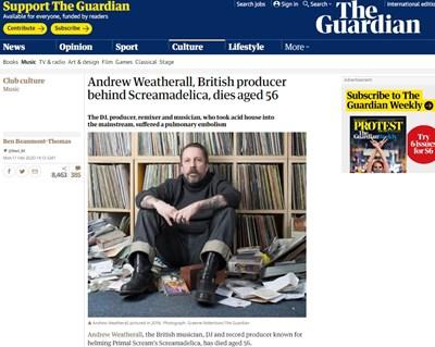 Андрю Уедърол Факсимиле: The Guardian