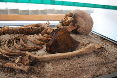 """Скелетът в Перперикон е прободен по идентичмен начин - с палешник от рало. Затова се заговори, че има връзка с намерения """"вампир"""" в Созопол. СНИМКИ БУЛФОТО"""