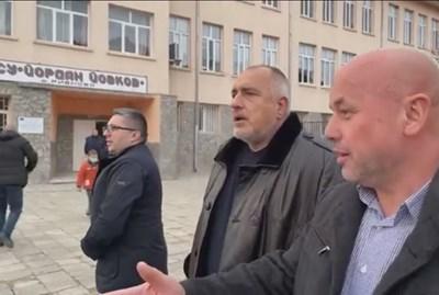 Борисов в Рибново: Отпуснахме 1,275 млн. лв. за гимназията, ще дадем и за двете дерета (Видео)