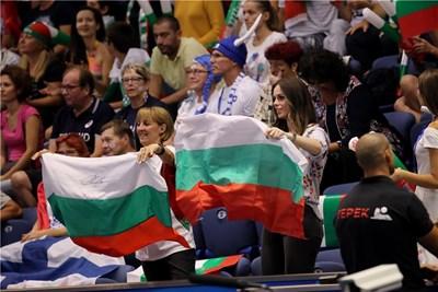 Националите ще имат солидна подкрепа от трибуните във Варна и в мача срещу Иран.  Снимка: FIVB