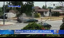 Дани Трехо спасява дете от преобърнат автомобил