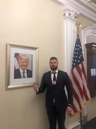 Николай Бареков в Белия Дом, където се срещна преди дни със съветниците по въпросите за Европа и Русия на американския президент Доналд Тръмп.