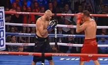 Безмилостен! Окървавен Кубрат победи румънеца Богдан Дину. Това е 14-тата му победа с нокаут