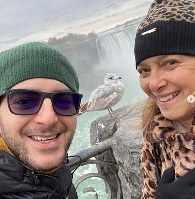 Сашо Кадиев и Катето Евро на Ниагарския водопад