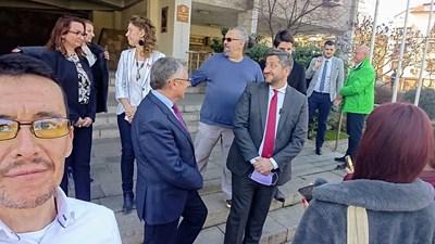 Христо Иванов  и част от членовете на листите за Пловдив и областта, след тяхната регистрация.