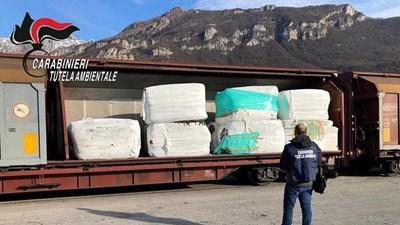 Това са отпадъците от влака, задържан при акция на карабинерите в Италия.