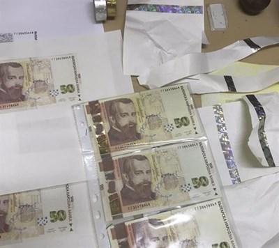Част от откритите фалшиви банкноти