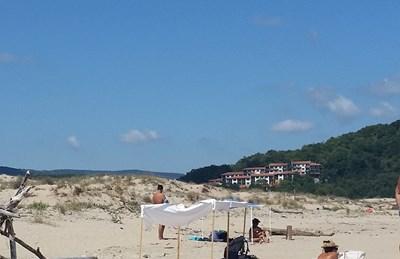 Пясъчните дюни на Аркутино са запазени.