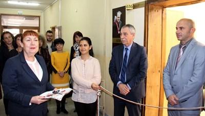 Проф.Христо Бонджолов честити новата придобивка на педагозите