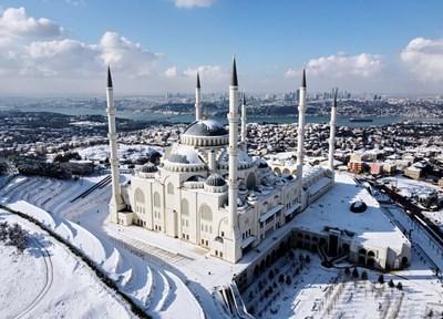 Турският мегаполис Истанбул осъмна под бяла покривка СНИМКИ: Ройтерс