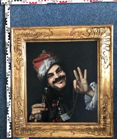 """""""Автопортрет на художника като Смеха"""" от Пиетро Белоти Снимки: Polizei Koln"""