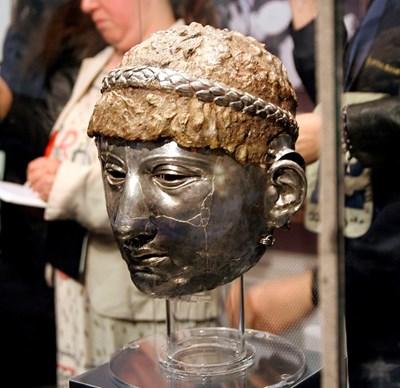Маската е реставрирана и изложена в музея в Пловдив. СНИМКА: Наташа Манева