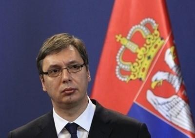 Президентът на Сърбия Александър Вучич  СНИМКА: Ройтерс