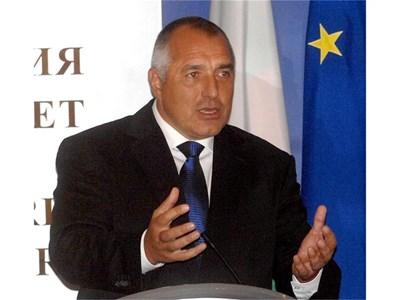 """Премиерът не представи отчета за втората година от управлението си. Бойко Борисов остави медиите и гражданите да се запознаят с него от сайта на МС. СНИМКА: """"24 ЧАСА"""""""