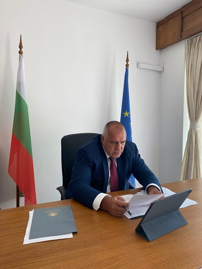 Борисов на предишно онлайн заседание на кабинета. Снимка правителствена пресслужба