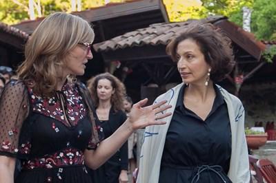 Вицепремиерът и министър на външните работи Екатерина Захариева и генералният директор на ЮНЕСКО Одри Азуле обсъдиха сътрудничеството между България и световната организация. Снимки Външно министерство