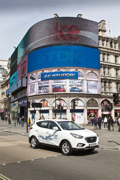 Hyundai ix35 с горивни клетки шета из Лондон