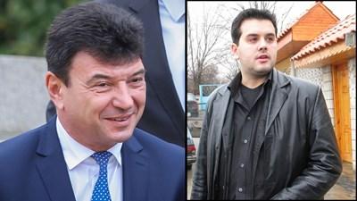 Бившият депутат от ГЕРБ Живко Мартинов Суджука (вляво) и застреляният бизнесмен Борислав Манджуков.